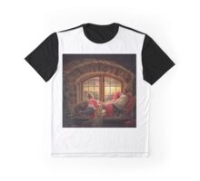 Story time with Santa version 2 (great for pillows and other products with square image) Graphic T-Shirt