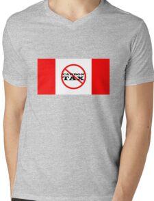 Canada Flag Protest Trudeau Carbon Tax Mens V-Neck T-Shirt