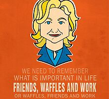 Friends Waffles and Work by ThePencilClub