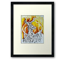 Goat Lord with tentacles Framed Print
