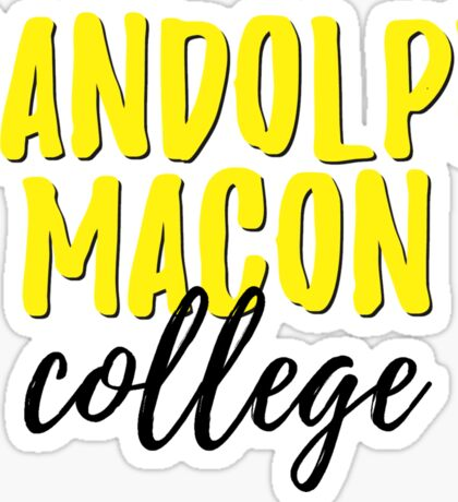 Randolph Macon College Sticker