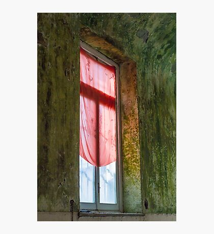 Old window in abandoned house Photographic Print