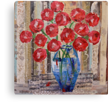 My Sweetheart's Roses Canvas Print