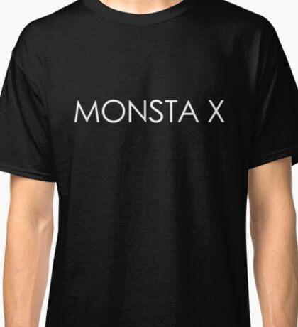 Monsta X The Clan Logo/Font (White) Classic T-Shirt