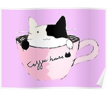 coffee house cat Poster