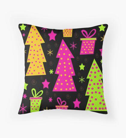 Playful colorful Xmas Throw Pillow