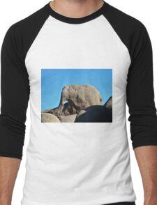 Elepant Rock , Joshua Tree Park  Men's Baseball ¾ T-Shirt