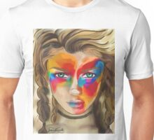 Colored Chalk Face Unisex T-Shirt