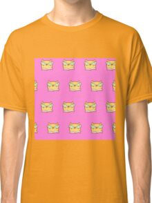 Cute,pink,cool cat with glasses, geek cat pattern, modern,trendy,hipster,fun,happy,cool,kid,kids,children,girly Classic T-Shirt