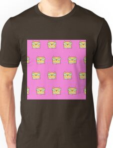 Cute,pink,cool cat with glasses, geek cat pattern, modern,trendy,hipster,fun,happy,cool,kid,kids,children,girly Unisex T-Shirt