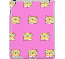 Cute,pink,cool cat with glasses, geek cat pattern, modern,trendy,hipster,fun,happy,cool,kid,kids,children,girly iPad Case/Skin