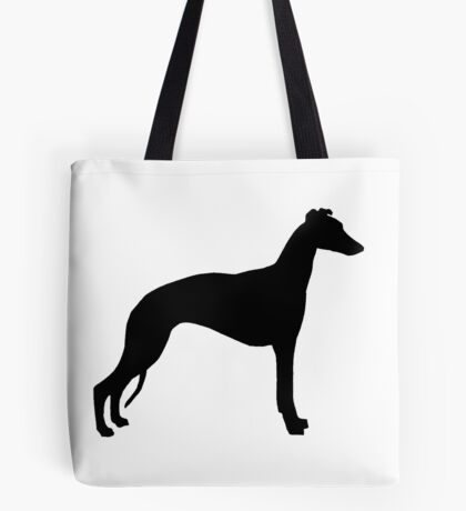 whippet silhouette Tote Bag
