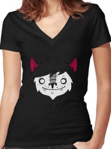 fluff Women's Fitted V-Neck T-Shirt