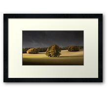 Autumn on th Downs Framed Print