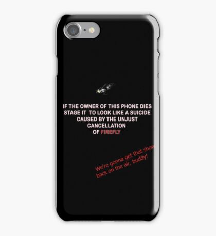 Firefly&Community: we'll bring the show back! - black version iPhone Case/Skin
