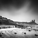 Reculver Black and White by Ian Hufton