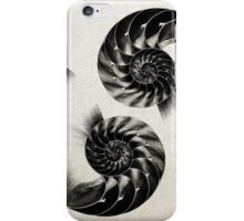 Nautilus Shell Lithograph  iPhone Case/Skin