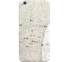 Vintage Map of Philadelphia (1885) iPhone Case/Skin