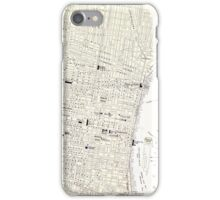 Vintage Map of Philadelphia (1885) iPhone Case/Skin
