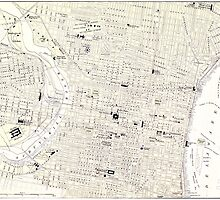 Vintage Map of Philadelphia (1885) by BravuraMedia