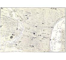 Vintage Map of Philadelphia (1885) Photographic Print