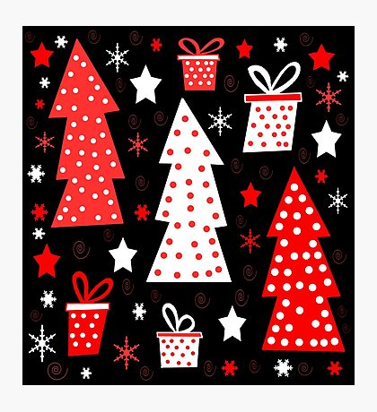 Red playful Xmas  Photographic Print
