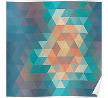 Abstract geometric colorful background, pattern design Poster