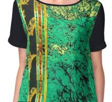 Marbles Jade and Gold Chiffon Top
