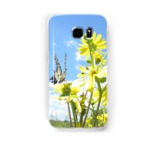 Eastern Tiger Swallowtail butterfly on wildflowers Samsung Galaxy Case/Skin