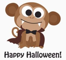 Cute Vampire Monkey. Happy Halloween! One Piece - Short Sleeve