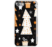 Orange playful Xmas iPhone Case/Skin