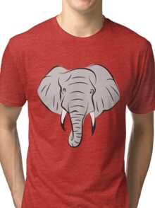 Elephant Head Tri-blend T-Shirt