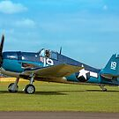 Grumman F6F-5K Hellcat 80141 G-BTCC out to grass by Colin Smedley