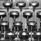 Typewriter Keys by Laurie Minor