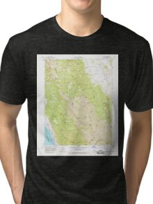 USGS TOPO Map California CA Brooks 288621 1959 24000 geo Tri-blend T-Shirt