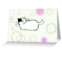 party time calico Greeting Card
