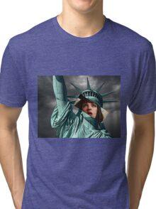 Mia Wallace Statue of Liberty Tri-blend T-Shirt