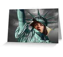 Mia Wallace Statue of Liberty Greeting Card