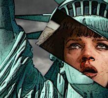 Mia Wallace Statue of Liberty Sticker