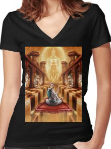 The Final Trip Women's Fitted V-Neck T-Shirt