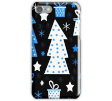 Blue playful Xmas iPhone Case/Skin