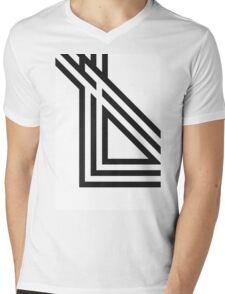 Lines Mens V-Neck T-Shirt