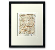 USGS TOPO Map California CA Big Trees 299223 1891 125000 geo Framed Print