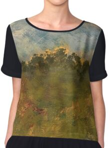 Abstract Landscape II Chiffon Top