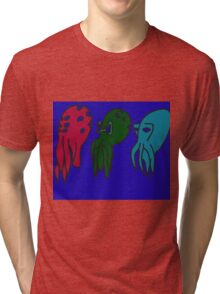 triple Cathulu Tri-blend T-Shirt