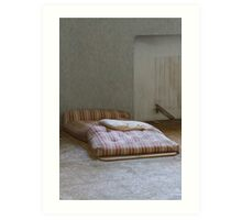 mattress in abandoned hospital Art Print