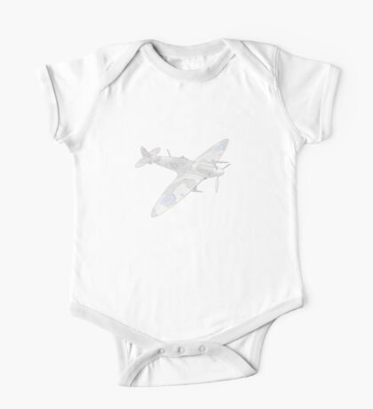 1936 WWII Spitfire Fighter Airplane One Piece - Short Sleeve