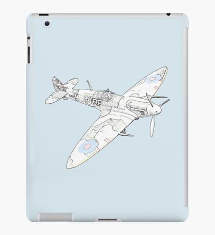 1936 WWII Spitfire Fighter Airplane iPad Case/Skin