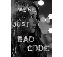 "Root ""Bad Code"" Noir Photographic Print"