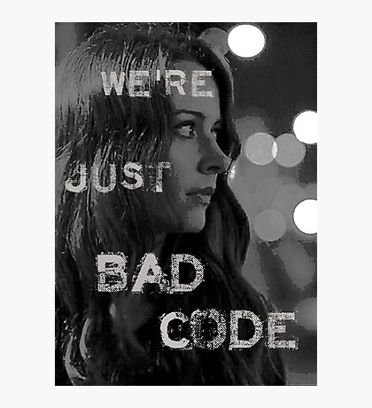 "Root ""Bad Code"" Noir Photographic Print"